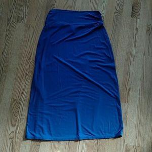 Faded Glory maxi skirt, blue, large